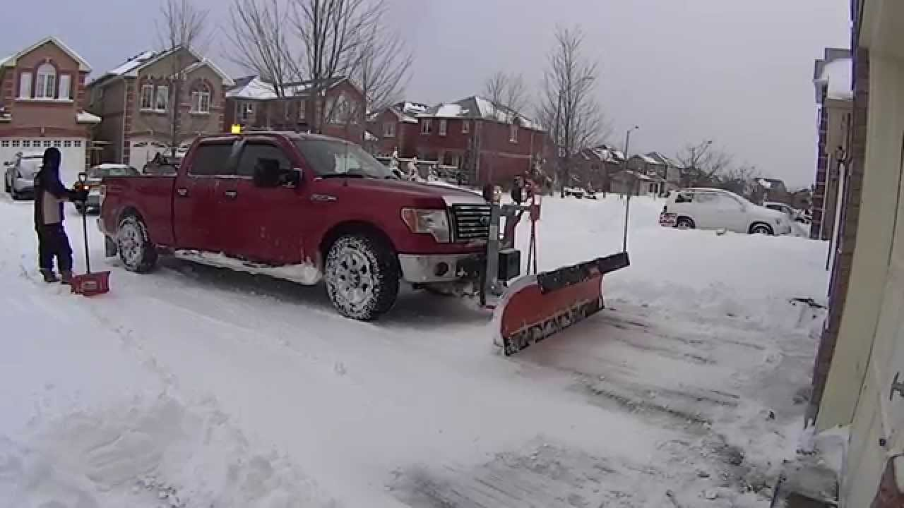 2010 Ford F150 Residential Snow Plowing with Arctic Poly ...
