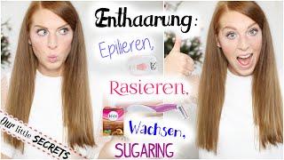 ENTHAARUNG - Alle ENTHAARUNGSMETHODEN im VERGLEICH | Das 1. Mal rasieren usw. Thumbnail