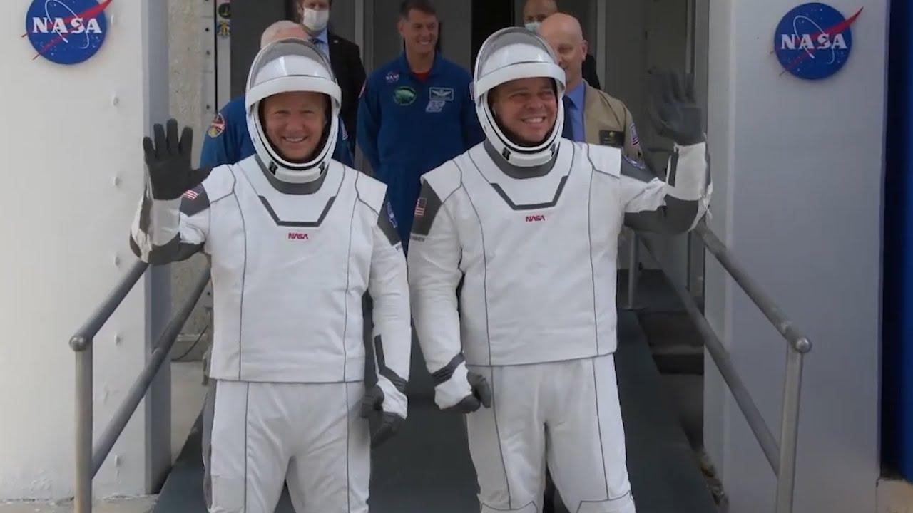 Запуск корабля SpaceX с астронавтами на МКС