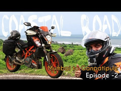 Mumbai to Ganpatipule Route | Coastal Road Adventure |  Episode 2 | Solo Ride | KTM Duke 390