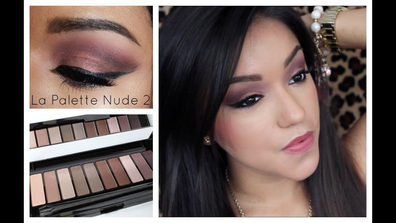 Loreal La Palette Nude 2 Tutorial Sultry Smokey Eye Youtube