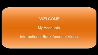 INTERNATIONAL BANK ACCOUNT