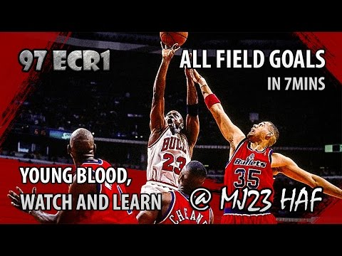 Michael Jordan Full Series Highlights vs Bullets in 1997 Playoffs R1 - 37.3PPG, Clean Sweep!