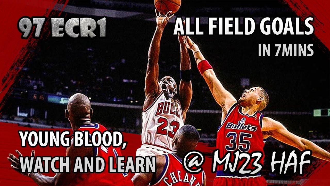 d5db72d7bfd Michael Jordan Full Series Highlights vs Bullets in 1997 Playoffs R1 -  37.3PPG