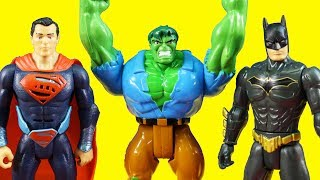 Hulk Smash Gamma Ray Vs Absorbing Man + Justice League ! Superhero Toys