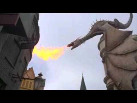Gringotts Dragon in Slow Motion