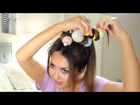 ★-i-curled-my-hair-with-balloons- -heatless-curls-hack- -hairstyles