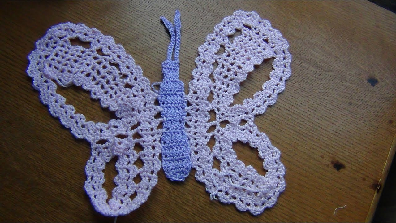 Crochet Butterfly In Bruges Lace Part 3 Youtube