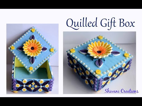 Quilling Gift box using Waste Cardboard/ DIY Quilled Jewellery Box