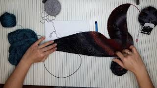 Асиммитричная шаль от угла