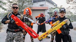 LTT Nerf Mod : Veteran Seal X Skill Nerf Guns Fight Crime Dangerous Mask Red Xicman