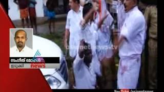 Attack against minister Thiruvanchoor Radhakrishnan in Idukki