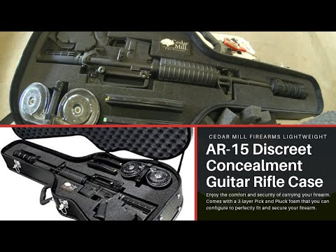 Cedar Mill Firearms AR 15, Beta Mag, Suppressor and 2 30 round Magazines in a Guitar Case