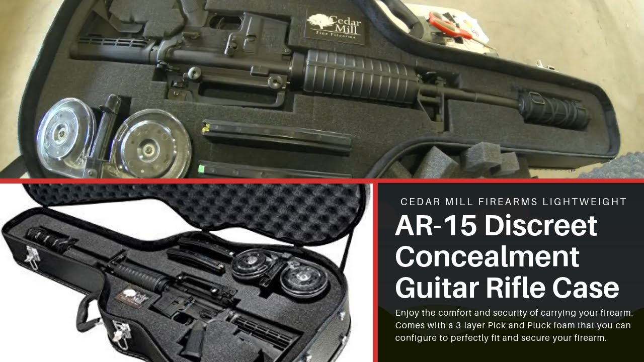 Cedar Mill Firearms Lightweight AR-15 Discreet Concealment Guitar Rifle Gun Case and Diversion Safe