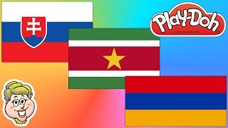 Play-Doh Flags! Slovakia, Suriname, and Armenia! EWMJ #416