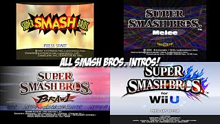 All Super Smash Bros. Intros - From 64 to Wii U (64, Melee, Brawl, Wii U)