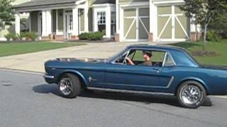 My buddy driving off in his 65 Mustang