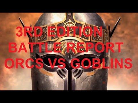 KINGS OF WAR 3RD EDITION  BATTLE REPORT ORCS VS GOBLINS #003