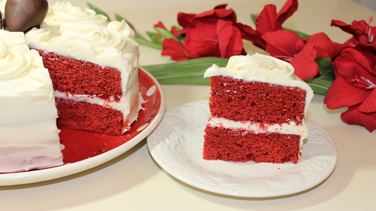 Red Velvet Cake With Cream Cheese Frosting Malayalam Valentine S Day Recipe By Pachakalokam
