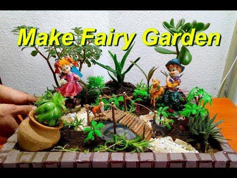 How To Make a Beautiful Fairy Garden / DIY