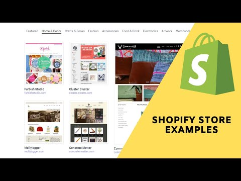 Shopify Overview:   See Some store examples for you to get inspiration for your own eCommerce store