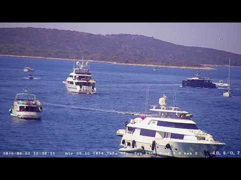 Hvar Webcam Recording from 21.Aug.2016. - Yachts