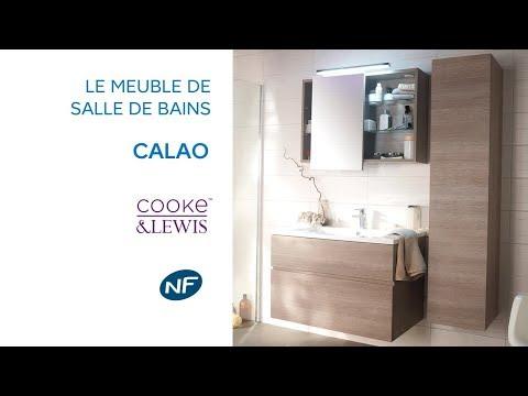 Meuble de salle de bains Calao COOKE & LEWIS - Castorama - YouTube