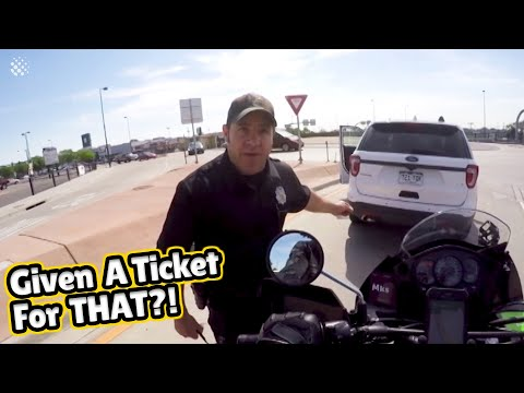 Police threatens to give motorcyclist a ticket for honking
