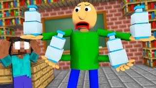 Monster School : BALDI'S BASICS EPIC BOTTLE FLIP CHALLENGE - Minecraft Animation