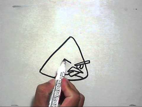 how to draw angry birds chuck