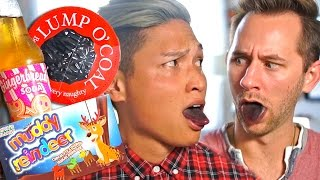 TRYING WEIRD CHRISTMAS FOODS | Arnold Telagaarta & Matthias