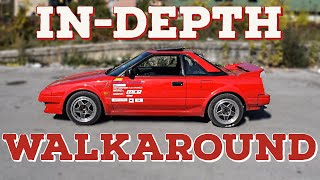 MR2 mk1 AW11 Full WALKAROUND / in-depth overview