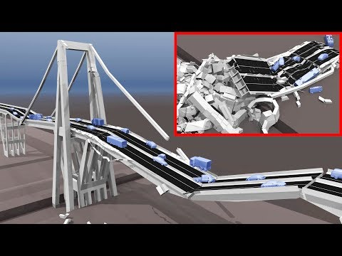 Morandi Bridge Collapse Simulation Genoa 2018 | BCB 3D