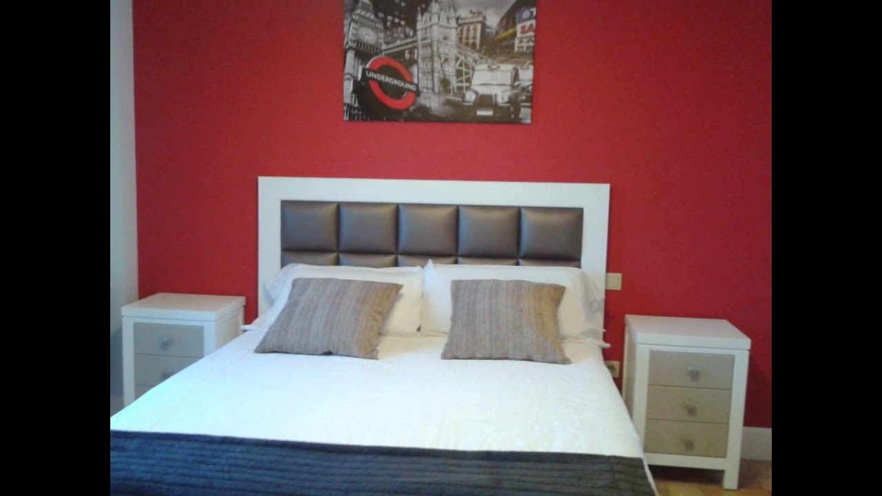 Cabecero de cama moderno panel tapizado cuadros youtube - Cuadros cabecero cama ...