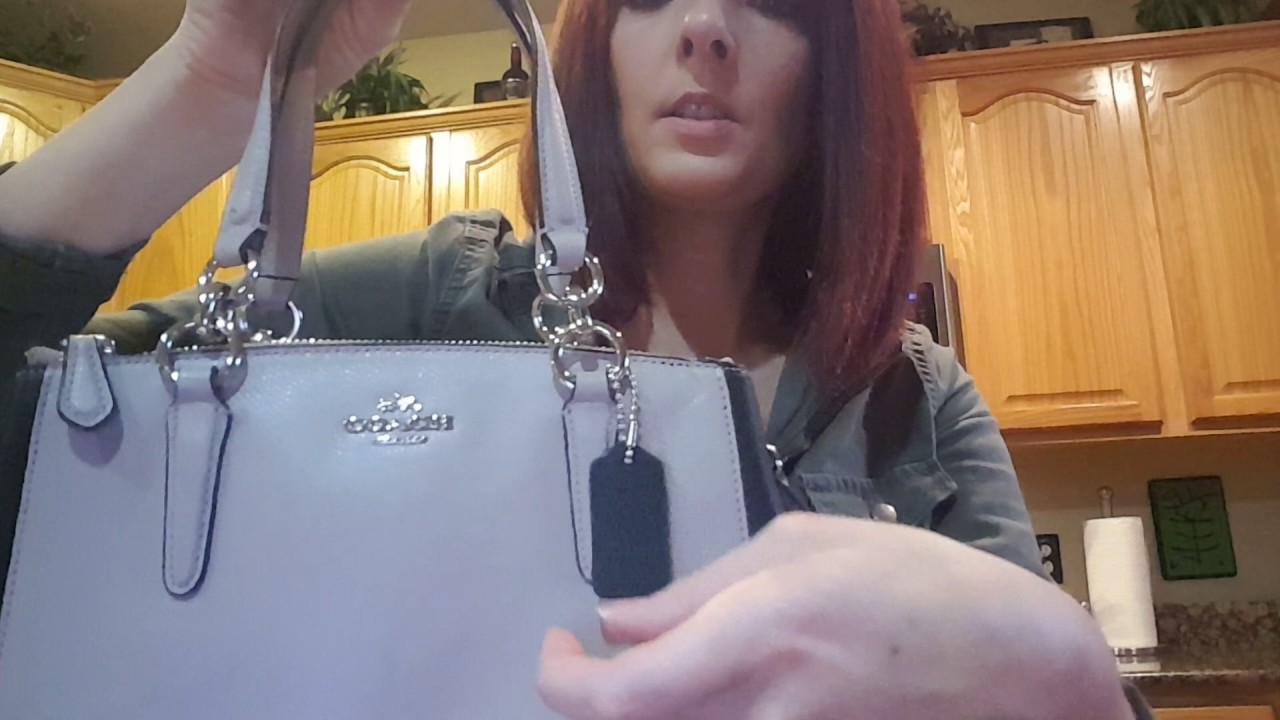 d0aaae588 REVIEW of COACH mini christie carryall crossbody purse satchel colorblock  #57266m - YouTube