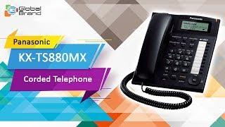 Panasonic KX-TS880MX Corded Phone Integrated Telephone Set | Speed Dial Telephone | PABX