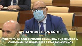 ALEJANDRO HERNÁNDEZ tritura a un diputado de la extrema izquierda