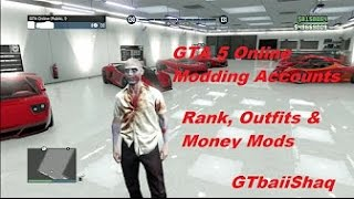 GTA 5 Online Mods - Modding $100,000,000 PS3/PS4 Accounts | Ranks, Stats, Outfits & Money Mods