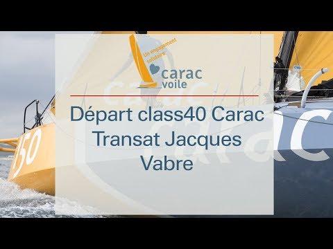 Départ class40 Carac - Transat Jacques Vabre