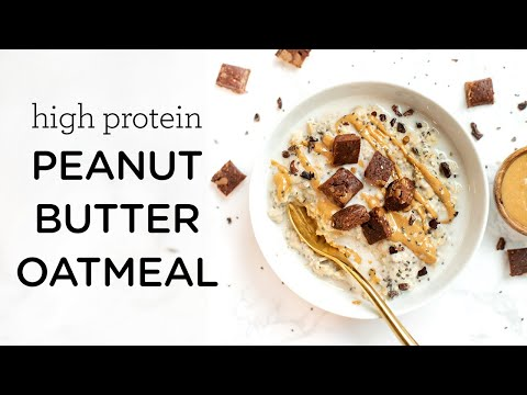 PEANUT BUTTER PROTEIN OATMEAL ‣‣ high protein & vegan