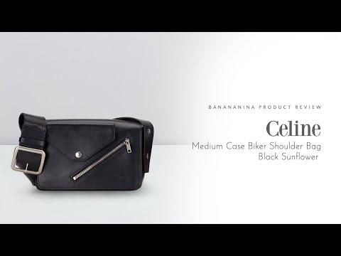 Banananina Product Review: Celine Medium Case Biker Shoulder Bag Black Sunflower