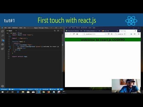 React tutorials #1 first touch thumbnail