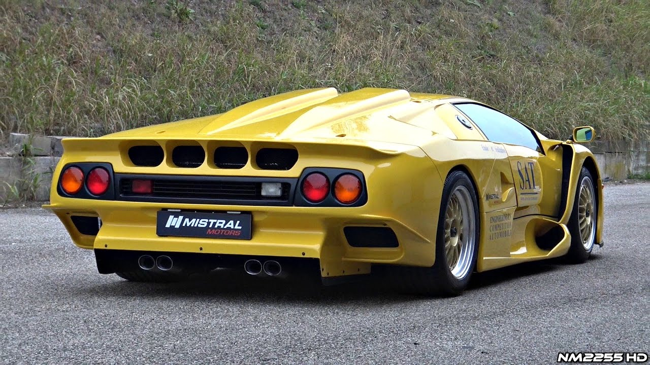 ultra rare lamborghini diablo gt1 stradale start up revs overview youtube. Black Bedroom Furniture Sets. Home Design Ideas