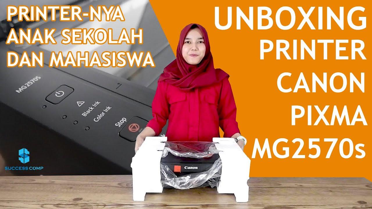 Printer Murah Sudah Bisa Print Scan Fotocopy Unboxing Printer Canon Pixma Mg2570s Youtube