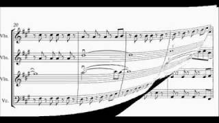 viva la vida -STRING QUARTET ARRANGEMENT score video + FREE music!