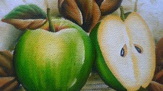 Como pintar Maçãs Verdes em tecido – Arte com Marcos Pedro