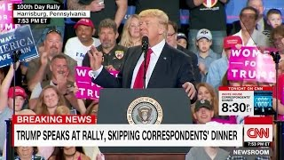 "Crowd Chants ""CNN Sucks"" at Trump First 100 Days Rally in Pennsylvania"