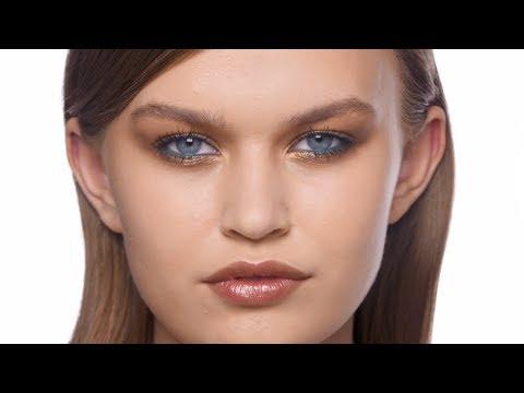 Вечерний макияж в золотистой гамме с новой палеткой M.A.C Girls - Power Hungry