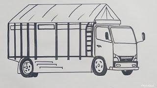 Menggambar Mobil Truk Cabe Budak Rawit Untuk Pemula Cara Nya Mudah Dan Gampang Banget Bro Youtube