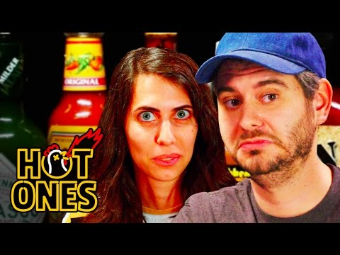 H3H3 Productions Does Couples Therapy While Eating Spicy Wings   Hot Ones